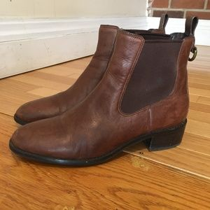 Cole Haan Womens Waterproof Leather Ankle Boots